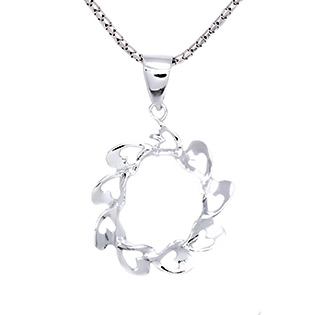 Rotating Hearts Silver Pendant