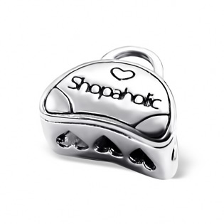 Silver Shopaholic Bag Bead