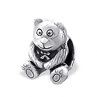 Plain Silver Bead Bear