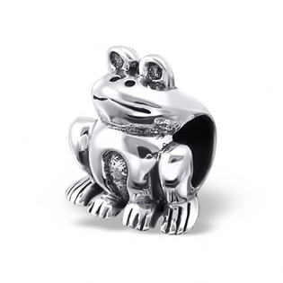 Silver Frog Plain Bead