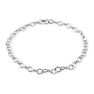 Silver Plain Charm Bracelet