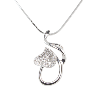Silver Pendant Upside Down Heart