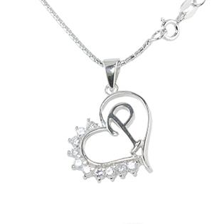 Silver Pendant Heart Shape P