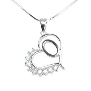 Silver Pendant Heart Shape O