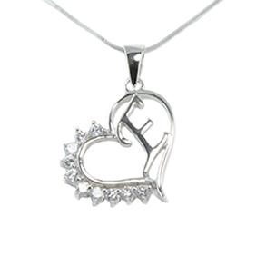 Silver Pendant Heart Shape E
