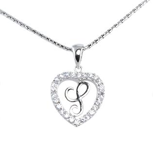 Silver Pendant Heart Shape S
