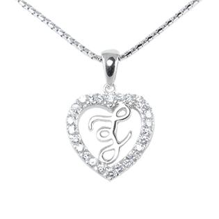Silver Pendant Heart Shape F