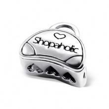 Silver Shopaholic Bag Bead