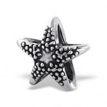 Silver Starfish Plain Bead