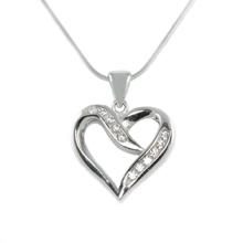 Silver Pendant Heart Leaf Shape