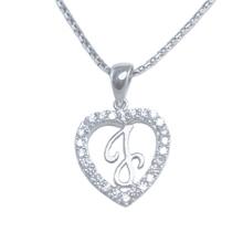 Silver Pendant Heart Shape J