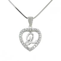 Silver Pendant Heart Shape Q L