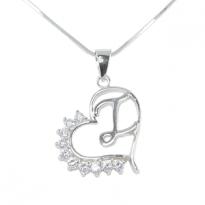 Silver Pendant Heart Shape Z I