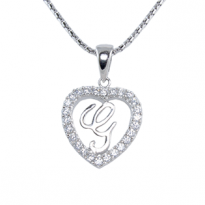 Silver Pendant Heart Shape G