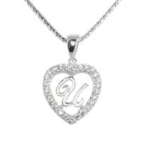 Silver Pendant Heart Shape U