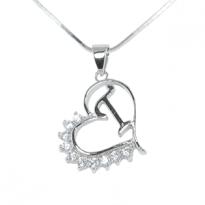 Silver Pendant Heart Shape T