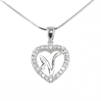 Silver Pendant Heart Shape N
