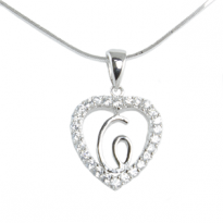 Silver Pendant Heart Shape C
