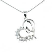 Silver Pendant Heart Shape V