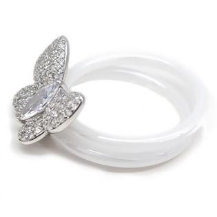 White Ceramic and Butterfly