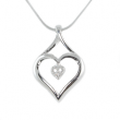 Silver Pendant Heart In Heart Shape