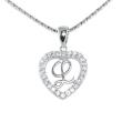 Silver Pendant Heart Shape L