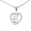 Silver Pendant Heart Shape I
