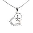 Silver Pendant Heart Shape K