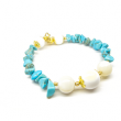 Turquoise and White Shell Pearl Afrodita Bracelet